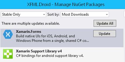 XFML-CreateProject3-NugetUpdateDroid